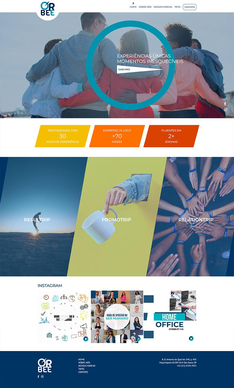 Criação de Site Orbee